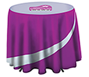 Cafe Height Round Tablecloths  by Gopromotional - we get your brand noticed!