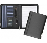 Tewksbury Zipped Leather Calculator Folder