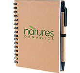 A6 Boston Natural Pocket Notebook & Pen