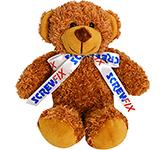 20cm Barney Bear With Bow - Chestnut
