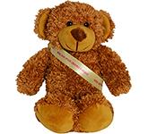20cm Barney Bear With Ribbon Sash - Chestnut