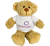 20cm Barney Bear With T-Shirt - Biscuit