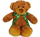 30cm Barney Bear With Bow - Chestnut