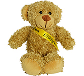 30cm Barney Bear With Ribbon Sash - Biscuit