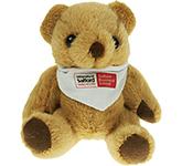 13cm Jointed Honey Bear With Bandana