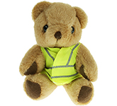13cm Jointed Honey Bear With Hi Vis Jacket