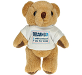 13cm Jointed Honey Bear With T-Shirt