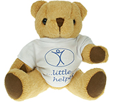 20cm Jointed Honey Bear With T-Shirt