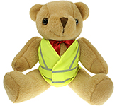 25cm Jointed Honey Bear With Hi Vis Jacket
