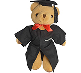 30cm Jointed Honey Bear With Graduation Cap & Gown