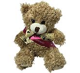 12cm Paw Bear With Ribbon Sash