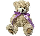 18cm Paw Bear With Bow