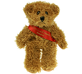 15cm Sparkie Bear With Ribbon Sash