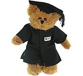 20cm Sparkie Bear With Graduation Cap & Gown