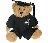 25cm Sparkie Bear With Graduation Cap & Gown