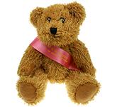 25cm Sparkie Bear With Ribbon Sash