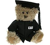 20cm Windsor Scruffy Bear With Graduation Cap & Gown
