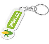 Bio Plastic Oblong Trolley Coin Stick Keyring