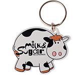 Cow Shaped Plastic Eco-Friendly Keyring