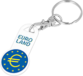 Euro Trolley Coin Stick Keyring