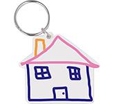 House Shaped Eco Plastic Keyring