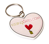Heart Shaped Eco Plastic Keyring