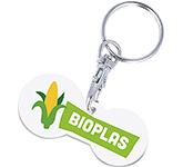 Multi Euro Bio Plastic Trolley Token Keyring