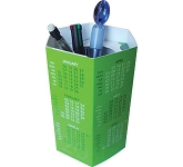 Branded Hexagonal Pop Up Pen Pot