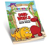 A4 Activity Colouring Book - Dinosaur