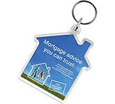 House Shaped Acrylic Plastic Keyring