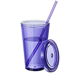 Hurricane 450ml Insulated Tumbler With Straw