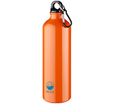 Denver 770ml Carabiner Metal Water Bottle