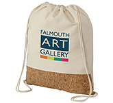 Oaklands Cotton & Cork Drawstring Backpack