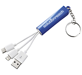 Route 3-in-1 Keyring Charging Cables