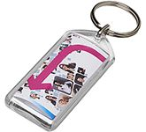 Oblong Reopenable Acrylic Keyring