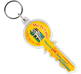 Key Shaped Acrylic Plastic Keyring
