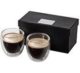 Milano 2-Piece Glass Espresso Set