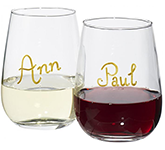 Antares Wine Glass Writing Set