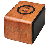 Lexicon Wooden Bluetooth Speaker With Wireless Charging Pad