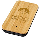 Sherwood Wireless Bamboo Power Bank - 6000mAh