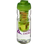 H20 Tritan Impact 650ml Flip Top Fruit Infuser Water Bottle
