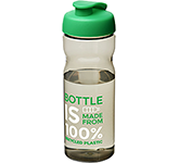 H20 Impact 650ml Flip Top Eco Water Bottle