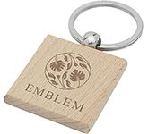 Clydach Square Beech Wood Keyring