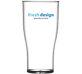 Reusable Plastic Pint Beer Glass - 625ml