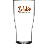 Reusable Plastic Tulip Pint Beer Glass - 568ml