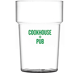 Party Reusable Plastic Stackable Pint Beer Glass - 568ml