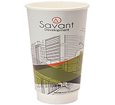 Double Walled Cubano Paper Cup - Full Colour - 455ml