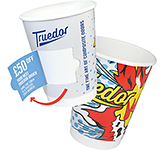 Double Walled Coupon Paper Cup - Full Colour - 230ml