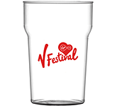 Reusable Nonic Polycarbonate Pint Beer Glass - 568ml