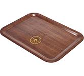 Sherwood Mahogany Veneer Wooden Serving Tray - 430 x 330 mm